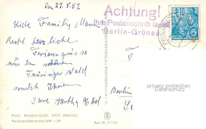 AK / Ansichtskarte Friedrichroda Panorama Puschkin Park Viehaustrieb Platz Opfer Faschismus Friedrichroda 1