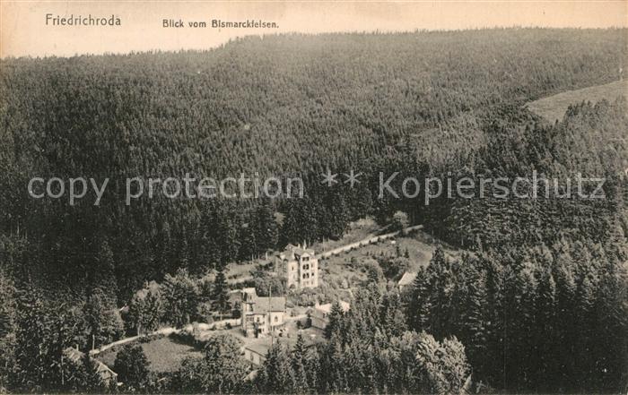 AK / Ansichtskarte Friedrichroda Blick vom Bismarckfelsen Friedrichroda 0