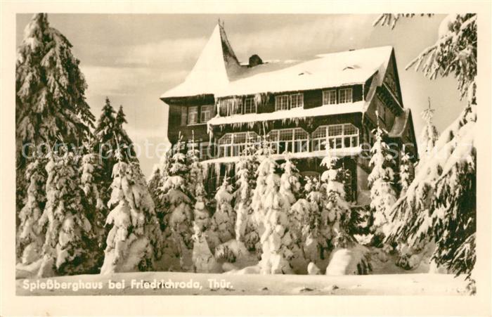 AK / Ansichtskarte Friedrichroda Spiessberghaus Winter Friedrichroda