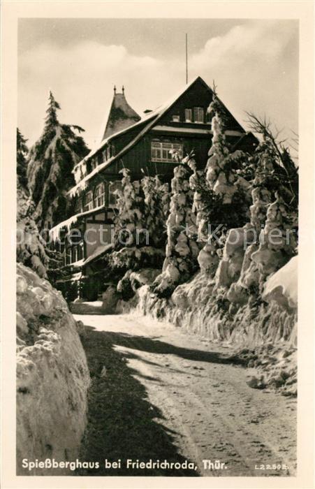 AK / Ansichtskarte Friedrichroda Spiessberghaus Winter Friedrichroda 0
