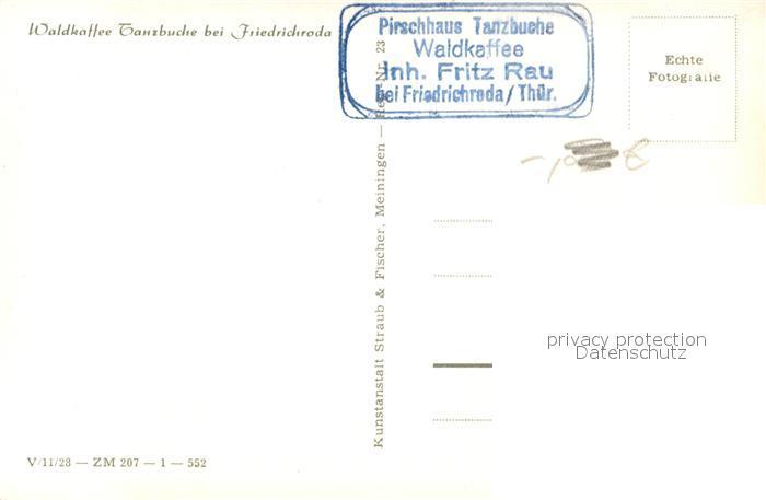 AK / Ansichtskarte Friedrichroda Waldkaffee Tanzbuche Winter Friedrichroda 1
