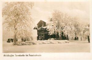 AK / Ansichtskarte Friedrichroda Waldkaffee Tanzbuche Winter Friedrichroda