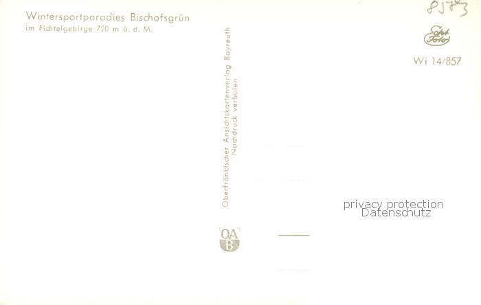 AK / Ansichtskarte Bischofsgruen Winterlandschaft Bischofsgruen 1