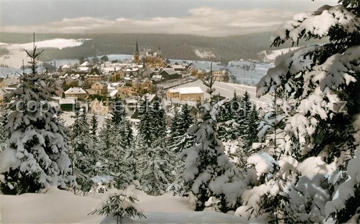 AK / Ansichtskarte Bischofsgruen Winterlandschaft Bischofsgruen