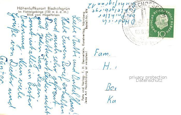 AK / Ansichtskarte Bischofsgruen Panorama  Bischofsgruen 1