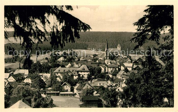 AK / Ansichtskarte Bischofsgruen Panorama Schneeberg Ochsenkopf Bischofsgruen