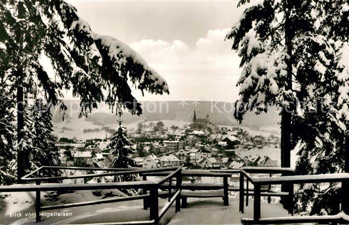 AK / Ansichtskarte Bischofsgruen Blick vom Huegelfelsen Winter Bischofsgruen 0