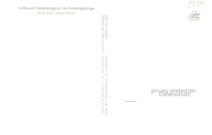 AK / Ansichtskarte Bischofsgruen Blick vom Huegelfelsen Winter Bischofsgruen 1
