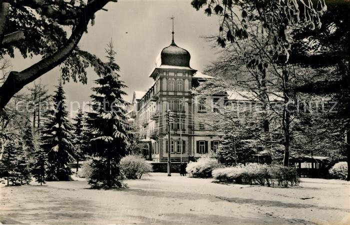 AK / Ansichtskarte Friedrichroda FDGB Erholungsheim Hermann Danz Winter Friedrichroda 0