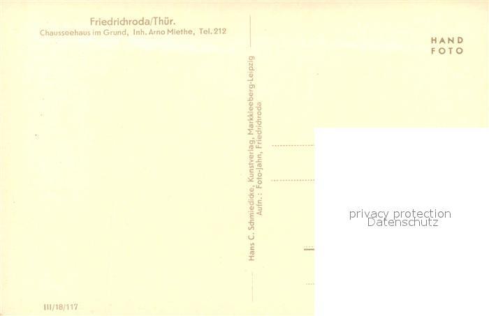 AK / Ansichtskarte Friedrichroda Chausseehaus im Grund Friedrichroda 1