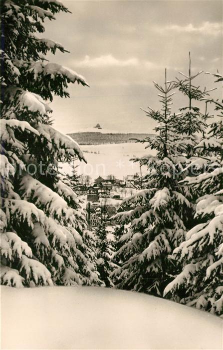 AK / Ansichtskarte Seiffen_Erzgebirge Schwartenberg Winter Seiffen Erzgebirge 0