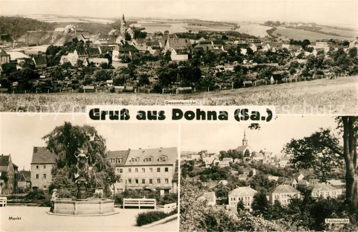 AK / Ansichtskarte Dohna_Sachsen Panorama Markt Dohna Sachsen 0