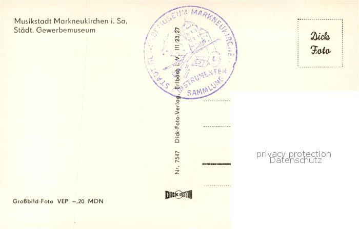 AK / Ansichtskarte Markneukirchen Staedtisches Gewerbemuseum Markneukirchen 1