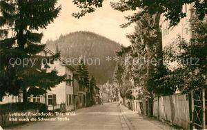 AK / Ansichtskarte Friedrichroda Blick durch Schweizer Strasse Friedrichroda
