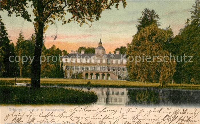 AK / Ansichtskarte Baden Baden Schloss Favorite Baden Baden 0