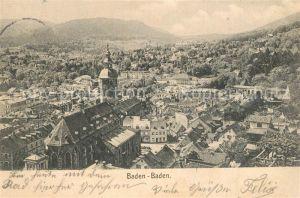 AK / Ansichtskarte Baden Baden Stadtpanorama Baden Baden