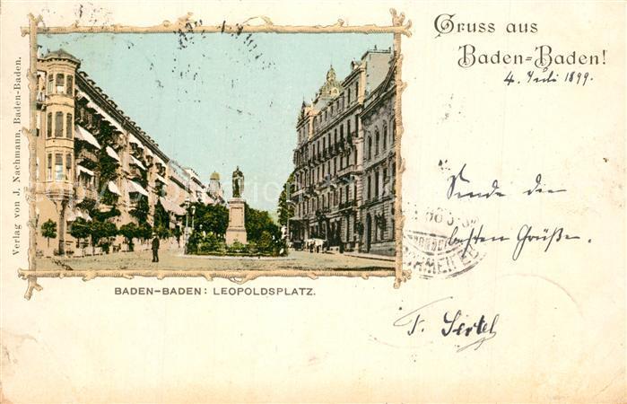 AK / Ansichtskarte Baden Baden Leopoldsplatz Baden Baden