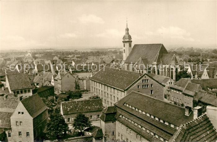 AK / Ansichtskarte Torgau Blick vom Schlossturm Stadtpanorama Torgau 0