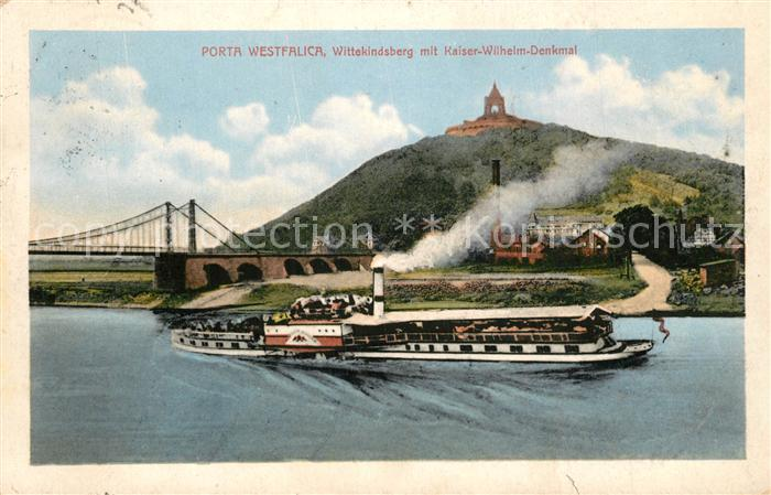 AK / Ansichtskarte Porta_Westfalica Wittekindsberg mit Kaiser Wilhelm Denkmal Porta_Westfalica 0