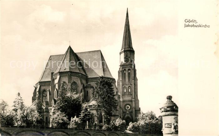 AK / Ansichtskarte Goerlitz_Sachsen Jakobuskirche Goerlitz Sachsen 0