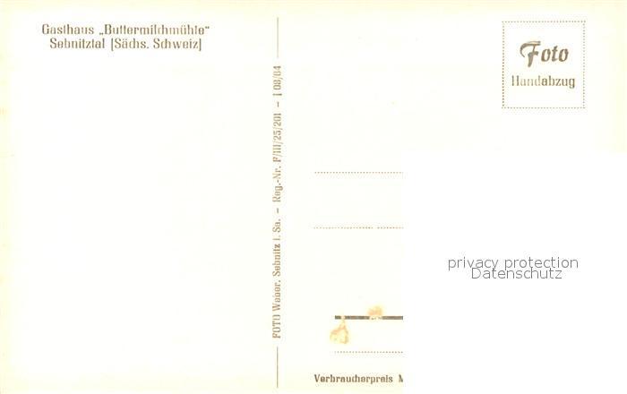 AK / Ansichtskarte Sebnitz Gasthaus Buttermilchmuehle Sebnitz 1