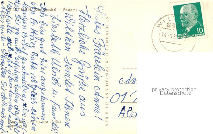 AK / Ansichtskarte Wilthen Postamt Wilthen 1