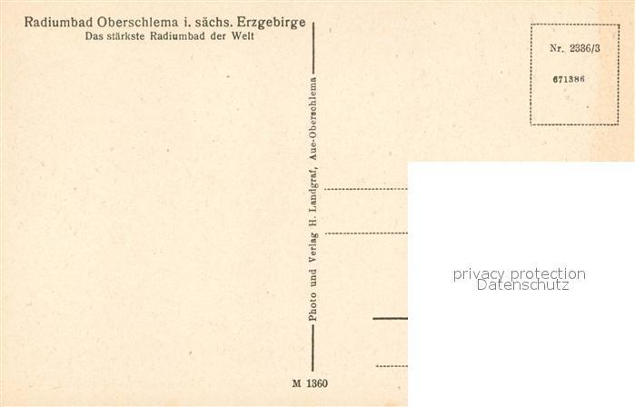 AK / Ansichtskarte Oberschlema_Erzgebirge Radiumbad Oberschlema_Erzgebirge 1