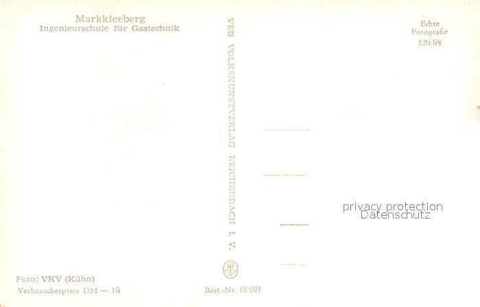 AK / Ansichtskarte Markkleeberg Ingenieurschule fuer Gastechnik Markkleeberg 1
