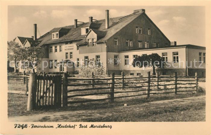 AK / Ansichtskarte Moritzburg_Sachsen FDGB Ferienheim Heidehof Moritzburg Sachsen 0