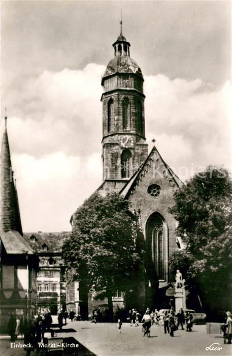 AK / Ansichtskarte Einbeck_Niedersachsen Markt Kirche Einbeck Niedersachsen 0
