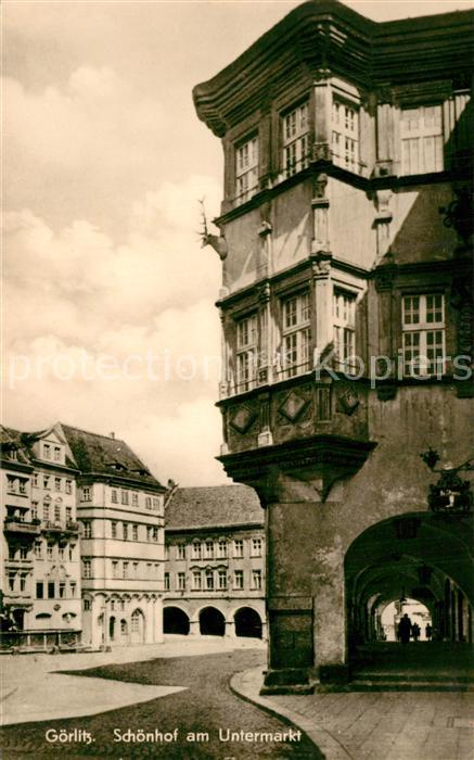 AK / Ansichtskarte Goerlitz_Sachsen Schoenhof am Untermarkt Goerlitz Sachsen 0