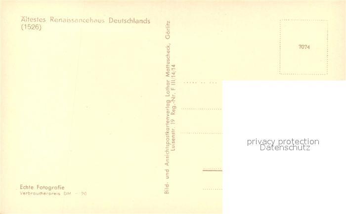 AK / Ansichtskarte Goerlitz_Sachsen Schoenhof am Untermarkt Goerlitz Sachsen 1