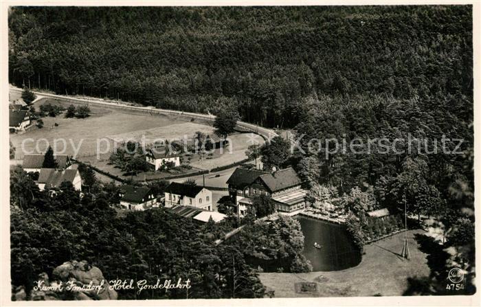AK / Ansichtskarte Jonsdorf Hotel Gondelfahrt Jonsdorf 0