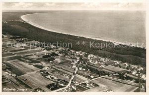 AK / Ansichtskarte Zempin Ostseebad Fliegeraufnahme aus etwa 200 m Hoehe Zempin
