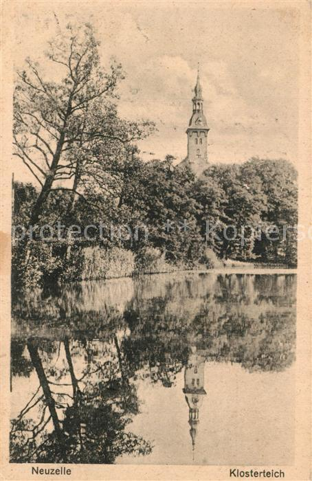 AK / Ansichtskarte Neuzelle Klosterteich Blick zur Kirche Neuzelle 0