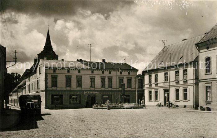 AK / Ansichtskarte Lassan Marktplatz Lassan 0