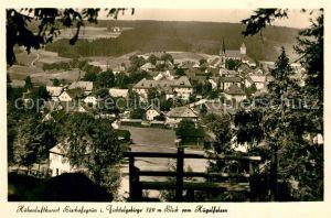 AK / Ansichtskarte Bischofsgruen Panorama Blick vom Huegelfelsen Bischofsgruen