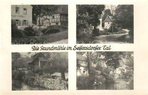 AK / Ansichtskarte Seifersdorf_Erzgebirge Grundmuehle Seifersdorfer Tal Teilansichten Seifersdorf Erzgebirge