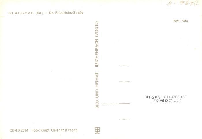 AK / Ansichtskarte Glauchau Dr Friedrichs Strasse Glauchau 1