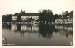AK / Ansichtskarte Tegernsee Schloss Ansicht vom See aus Tegernsee
