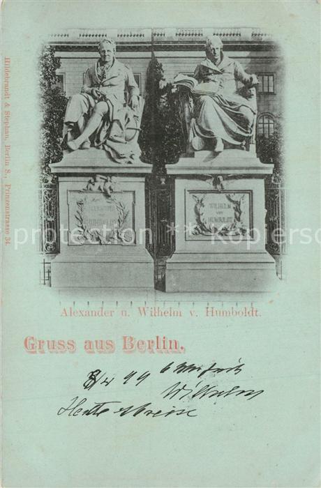 AK / Ansichtskarte Berlin Alexander und Wilhelm von Humboldt Denkmal Berlin
