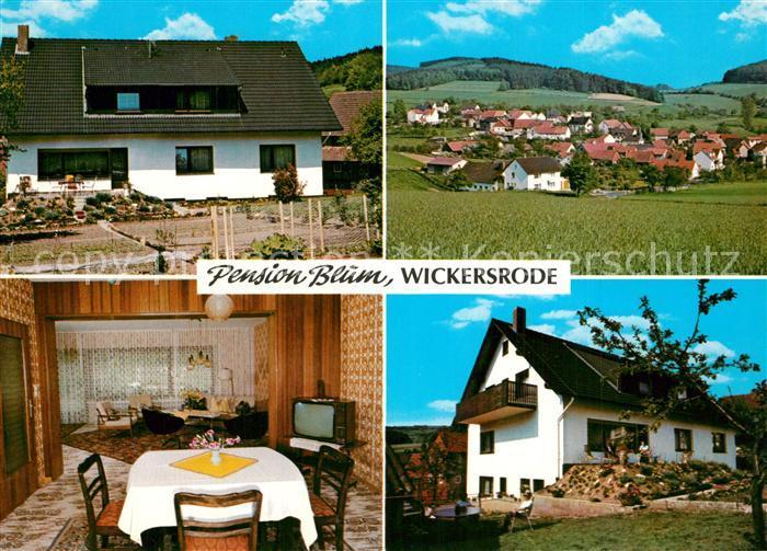 AK / Ansichtskarte Wickersrode Pension Blum Wickersrode