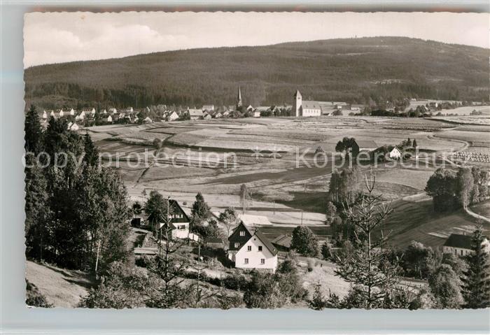 AK / Ansichtskarte Bischofsgruen Panorama Ochsenkopf Bischofsgruen
