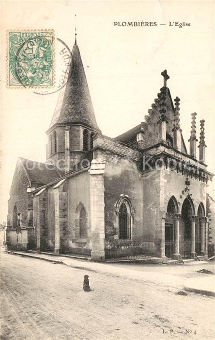 AK / Ansichtskarte Plombieres les Dijon Eglise Plombieres les Dijon