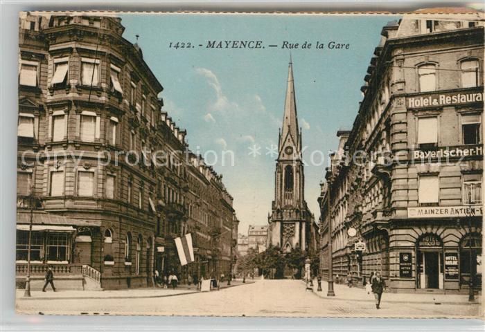 AK / Ansichtskarte Mayence rue de la Gare Mayence