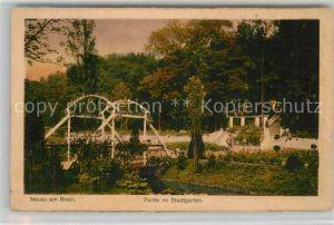 AK / Ansichtskarte Neuss Partie im Stadtgarten Neuss