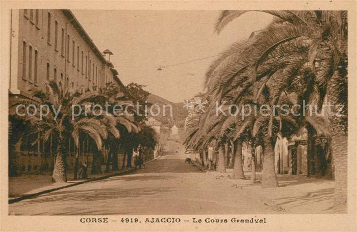 AK / Ansichtskarte Ajaccio Le Cours Grandval Ajaccio