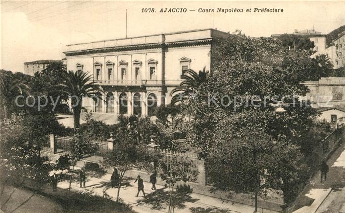 AK / Ansichtskarte Ajaccio Cours Napoleon et Prefecture Ajaccio