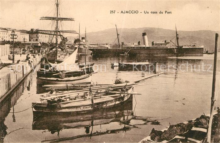 AK / Ansichtskarte Ajaccio Un coin du Port Ajaccio