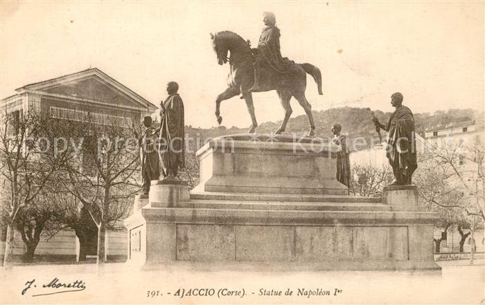 AK / Ansichtskarte Ajaccio Statue de Napoleon I Ajaccio